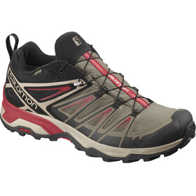 Salomon X Ultra 3 GTX Shoes Men bungee cord/vintage kaki/red dahlia